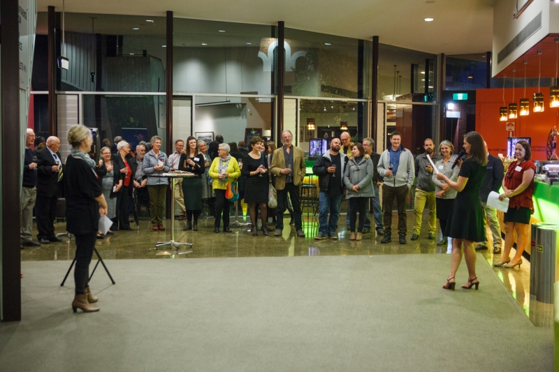 The crowd included sponsors, volunteers, artists, judges, committee members and supporters