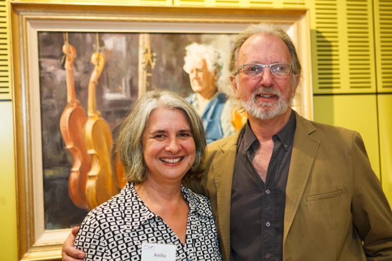 Anita Laurence with Jim van Geet